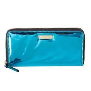 Foley + Corinna Teal Large Zip Wallet